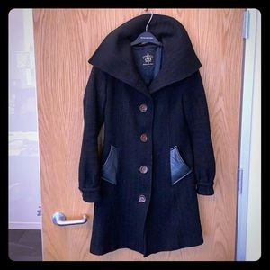 Very cute black Mackage wool coat-small